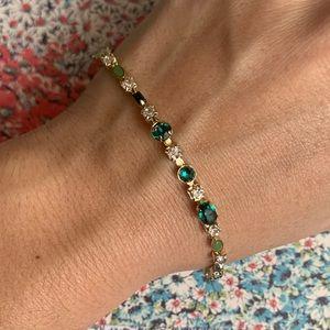 Sorrelli Emerald Crystal Bracelet